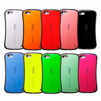 Wholesale iFace Shock Proof Rubber TPU Case for iphone G S C Colorful Candy Color Soft tpu Skin Case Cover with retail package