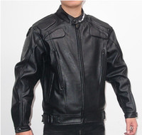 Jackets black leather motorcycle jacket - PU MOTO Jackets motorcycle Jacket locomotive take leather jacket moto racing jacket motorcross jackets Motorbike jacket black