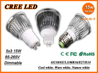Wholesale High power CREE Led bulb dimmable W x3W GU10 E27 V MR16 V Led Light Lamp led Spotlight lighting downlight