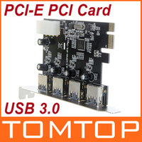 Wholesale 4 Port Super Speed USB PCI E PCI Express Card with pin IDE Power Connector NEC uPD720201 C1736