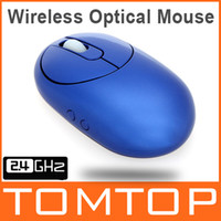 Wholesale 2 G Wireless Rechargeable Optical Mouse with Port USB Hub Charging Dock amp Retractable Cable For Desktop Laptop Blue Color C1749BL
