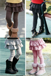 2015 new Children girls cute joker small skirt render pants conjoined twins skirts pant, 5pcs lot