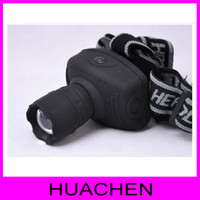 Wholesale W LED High Power Zoom Headlamp Plastic CAMPING LIGHT