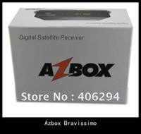 Azbox Bravissimo Receptor de Satélite Duplo Tuner Suporte Nagra3 Decoder Az Box Bravissimo HD Linux OS Para a América do Sul em stock