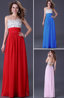 Wholesale Grace Karin Stock Strapless Rhinestone Embellished Party Gown Prom Ball Long Evening Dress Size CL3424