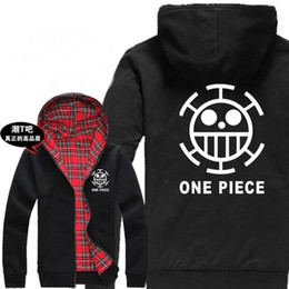 Japanese Cartoon Anime One piece Funs gift one piece logo Heavy Hoodie Anime costume Trafalgar Law Jacket