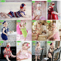 lace petti rompers - baby one piece bodysuit clothes headbands posh petti rompers infant romper outfits lace shortall coverall hair tie tutu G