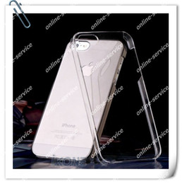 New! Crystal Hard Plastic Transparent Black White Back cover case shell for new iphone 5 5s