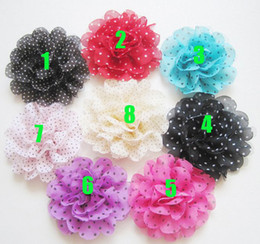 Baby Barrettes Hairpin Girl Dot Flower Hair Clips Hair Accessories DIY Photography props Alligator clip Barrettes Chiffon Flower Corsage