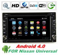 Wholesale HD Touch Screen Din quot Android Car DVD Player For Nissan Universal with GPS navi BT G WIFI Radio Audio D UI PIP Free WIFI dongle