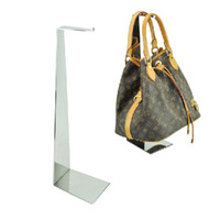 Wholesale Stainless Steel Mirror Bag Rack Floor Bag Handbag Display Stand Luggage Counters BN