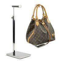 floor stand display - Fashion Stainless Steel Mirror Bag Rack Floor Bag Handbag Display Stand Luggage Counters BN