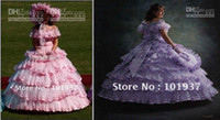 Ruffle belle images - Hot Selling Ball Gown Dresses Silhouette Pink Southern Belle Azalea Trail Maids Flower Girl s Pageant Dress
