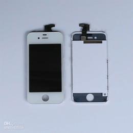 DHL livraison gratuite pour la RÉTINE Écran LCD Numériseur d'Écran Tactile de Rechange pour l'iphone 4/4S Noir/Blanc 20pcs/LOT