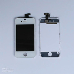 DHL shipping free for RETINA LCD Display Touch Screen Digitizer Replacement Part for iphone 4 4S Black White 20pcs LOT