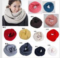 Wholesale Fashion cotton Scarf Women Wrap Shawl Bandelet Muffler Neckerchief Scarves Korean Lovers Knitting Winter Collar wool scarf colors mixed