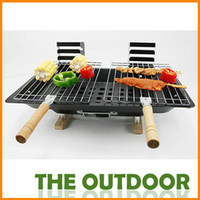 Wholesale Double outdoor picnic barbecue oven Outdoor barbecue grill oven