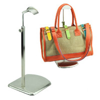 Wholesale Fashion Luxurious Stainless Steel Bag Holder Floor Bag Handbag Display Stand BN