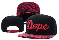 Wholesale Dope Script Snapback Zebra Camo Snapbacks fashion street hip hop caps hats Sports headwears fitted hat online adjustable hat snapback