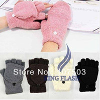 Wholesale Women s Ladies Fashion Hand Wrist Warmer Winter Fingerless Gloves Five Colors