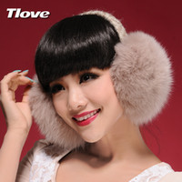 Wholesale Ms tlove oversized fox fur ear cover women s warm winter warm earmuffs ear protection earmuffs card