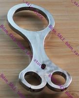 Wrist & Ankle Cuffs bondage neck wrist restraint - Stainless Steel Cangue Neck Handcuff Restraint Bondage Yoke Wrist Pillory with Lock in bdsm_sale