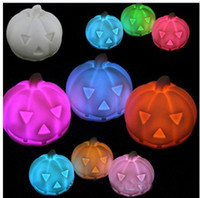 Wholesale Halloween supplies props LED Christmas supplies bar decoration colorful led pumpkin small night light EMS X0190