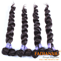 Loose Wave Mongolian Hair machine Free shipping mongolian virgin hair 4pcs lot 100% 5A unprocessed hair extensions mix length loose wave can be dyed or bleached