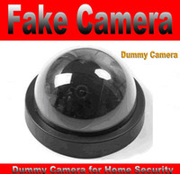Wholesale Fake Decoy Dummy CCTV Dome Camera for Home Security System with Red Blinking LED no wiring necessary