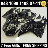 7gifts Fairing For DUCATI 848 1098 1198 S R 07- 11 ALL Black ...