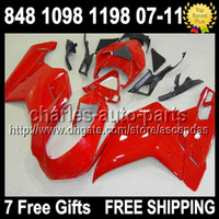 7gifts Fairing Factory RED For DUCATI 848 1098 1198 S R 07- 1...