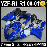 7gifts Fairing For YAMAHA Factory blue YZF- R1 00- 01 YZF R1 Y...