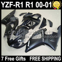 Wholesale 7gifts Fairing For ALL Flat black YAMAHA YZF R1 YZF R1 YZFR1 Q999 YZF1000 YZF COOL HOT Matte black Bodywork Kit