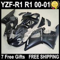 7gifts+ Body For YAMAHA YZFR1 YZF R1 00- 01 Flat black YZF1000...