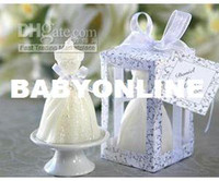 Wholesale wedding favo candle Wedding Gown Candle in Designer Window Shop Gift Box