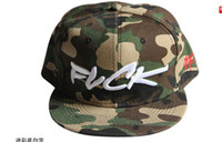 Black Man Spring & Fall Military-style Camouflage Fuck Snapback Hat Men Fashion Cap Flat Brim Hiphop Caps Men Hot Cap Adjustable Baseball Hats Black Cap