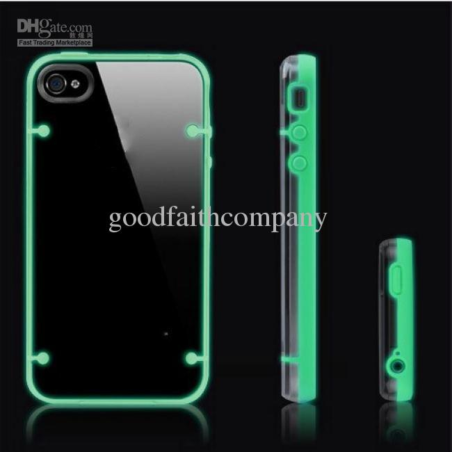 Buy Glow Dark iPhone5C Hybrid TPU Bumper + PC Cover Hard Case Apple iPhone 4 5 5C 4G 5G Fluorescence Backcover inch Mobile Phone Shell