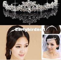 Wholesale elegant Wedding Bridal prom Jewelry crystal Tiara headpiece headband headwear hairwear floral headdress belly dance hair accesso