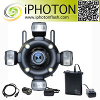 Wholesale iPHOTON model lamps Studio Photographic Camera Flash Macro amp Ring Flash RQ560 Studio Lighting Equipment