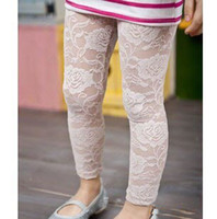 baby girl kids lace pants ninth pants tutu skirt dress match...