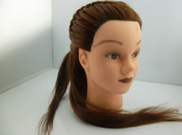 Wholesale PVC Model Head Female Mannequin Manikin Training Head with Golden Hair with Clamp Holder