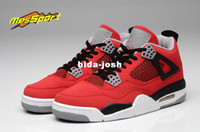 Wholesale Retro J4 IV Toro Bravo Men Basketball Shoes Men Athletic Shoe Brand Name Red Black White Us Size