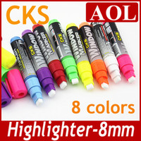 Wholesale New Fashion Creative colorful Highlighter pen Fluorescent dry erase marker pen for led display board mix color