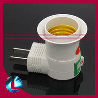 Wholesale US UK AU plug AC Power v to E27 Bulbs Socket Adapter Halogen LED CFL Light with On OFF Switch