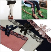 Wholesale Spring And Autumn Bby Girls Comfortable Leggings In Korean Style Vintage Style With Flower Patterns