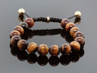 Wholesale Fashion Shamballa Jewelry Rope Handmade High Quality Tiger Eye Beaded Shamballa Bracelet for Men and Women