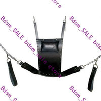 leather sex sling - 1pc Strict Leather Sling w Stirrups and Pillow sm bdsm game sex toys