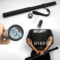 Wholesale New Flashlight Mode CREE Q5 Baseball Bat Shape Police LED Security Flashlight Torch
