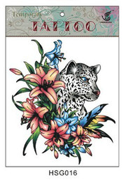 Wholesale 2013 Tattoo stickers Waterproof tattoo art tattoo stickers HSG016 leopard