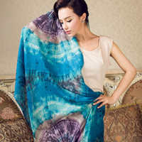 Wholesale Meters painting yarn spring and autumn slanting stripe ring velvet print cashmere scarf luxury